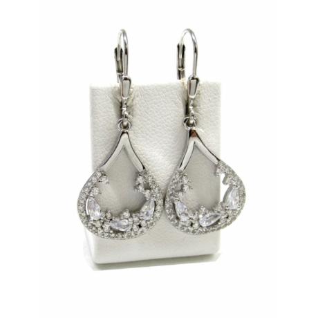 Kristályvarázs ezüst fülbevaló(franciakapcsos)