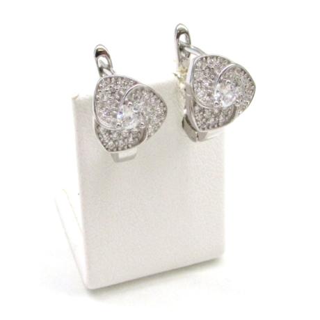 3 leveles ezüst fülbevaló
