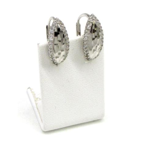 Díszes tükör ezüst fülbevaló