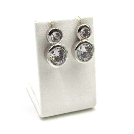 Dupla ezüst fülbevaló