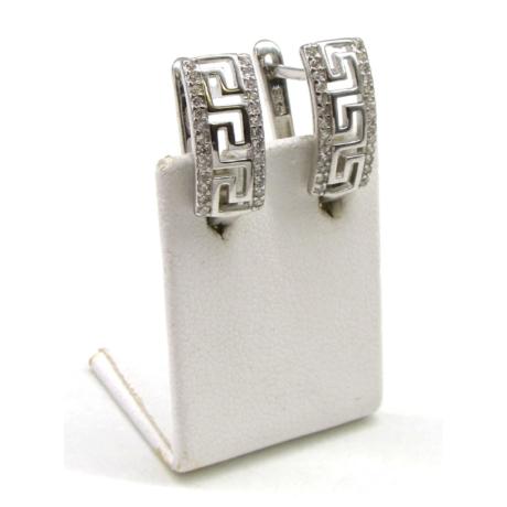Görög mintás ezüst fülbevaló