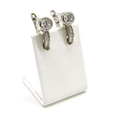 Foglalatos kapcsos ezüst fülbevaló