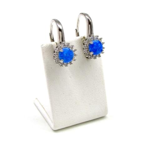 Kék opál ezüst fülbevaló