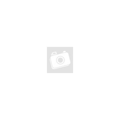Fehér foglalatos ezüst fülbevaló (7 mm-es)