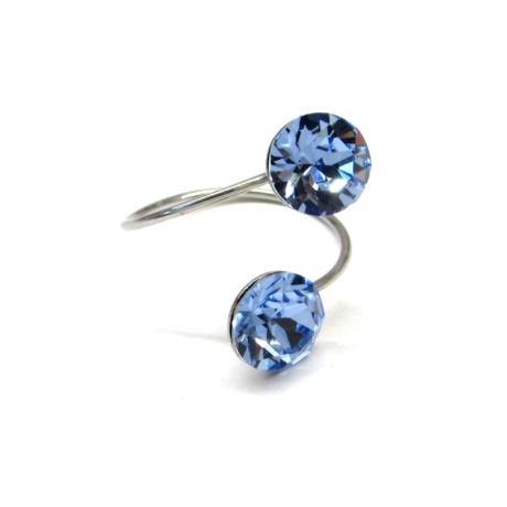 DUPLA XENA gyűrű (light sapphire)