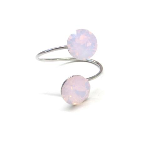DUPLA XENA gyűrű (rose water opal)