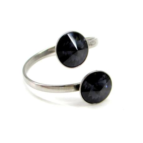 DUPLA VENUS gyűrű (jet fekete)
