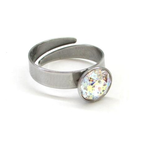 XENA gyűrű (8 mm-es white patina)
