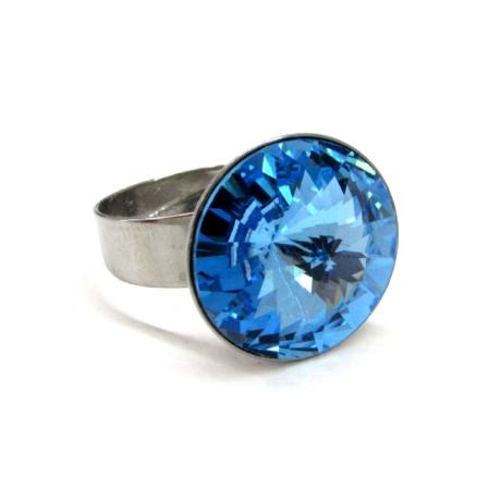 Óriás gyűrű (aquamarine)