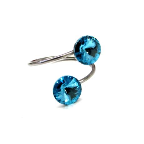 DUPLA gyűrű (light turquoise)
