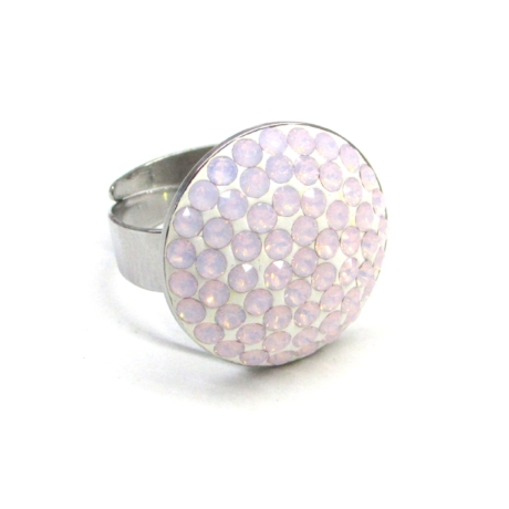 HÉRA gyűrű (nagy 20 mm-es rose water opal)