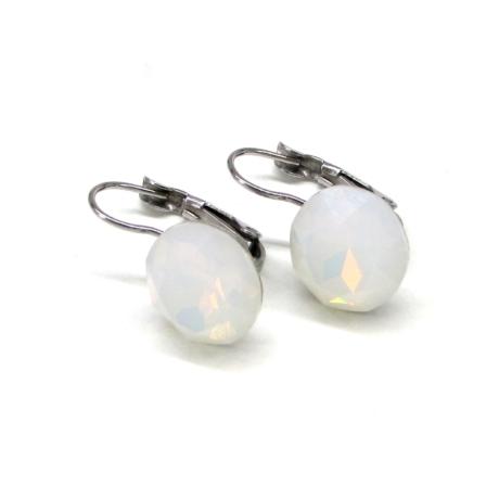 HELÉNA kapcsos fülbevaló (12 mm-es white opal)