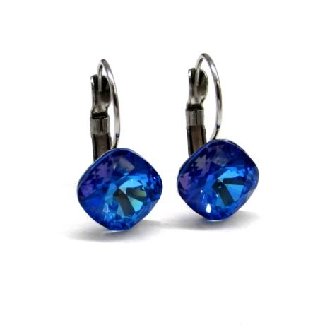 ANGELINA fülbevaló (8 mm-es royal blue delite)