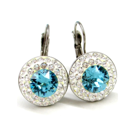APHRODITÉ kapcsos fülbevaló (light turquoise 14-mm-es)