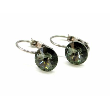 MONROE fülbevaló (black diamond)