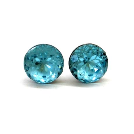 MANDALA bedugós fülbevaló (aquamarine)