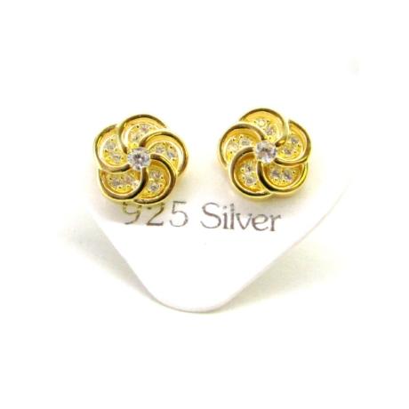ARANYVIRÁG ezüst fülbevaló (8mm)