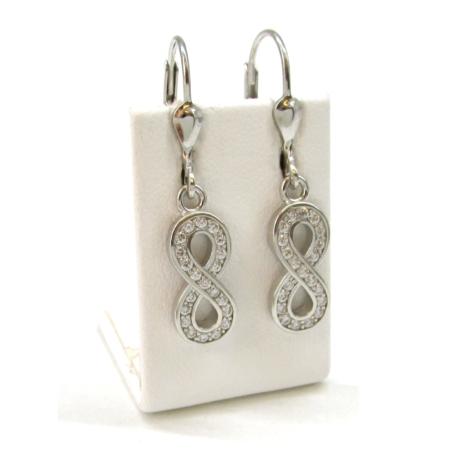 DÍSZÍTETT VÉGTELEN ezüst fülbevaló (kapcsos)