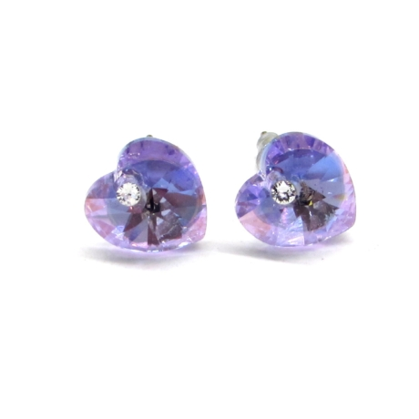 SZERELEM fülbevaló (violet AB)