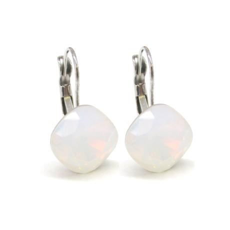 NAGY PÁRNA kapcsos fülbevaló (white opal)
