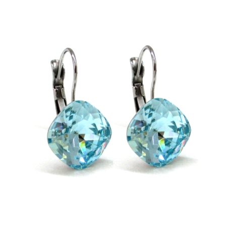 NAGY PÁRNA kapcsos fülbevaló (light turquoise)