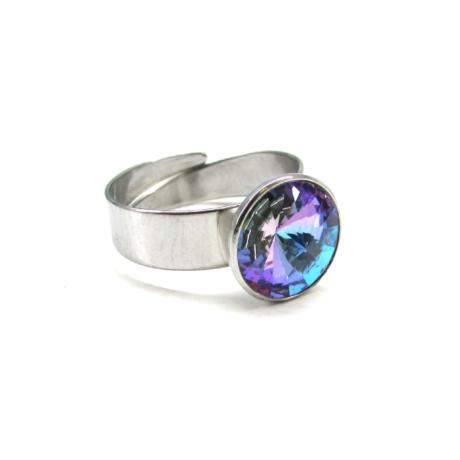 Kislány gyűrű (színjátszós lila - állítható méret)