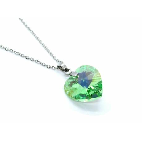 Szív nyaklánc (világos zöld)