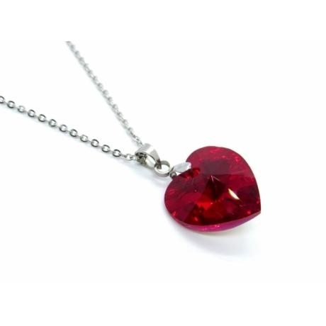 Szív nyaklánc (piros)