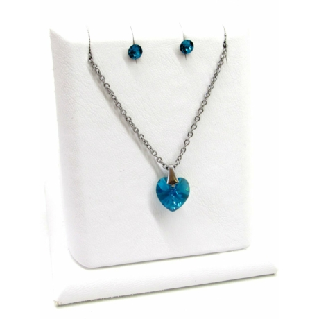Pici szív szett (blue zircon)