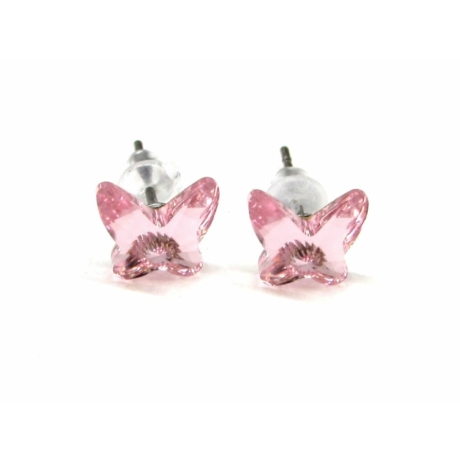 PILLANGÓ fülbevaló (rózsaszín)