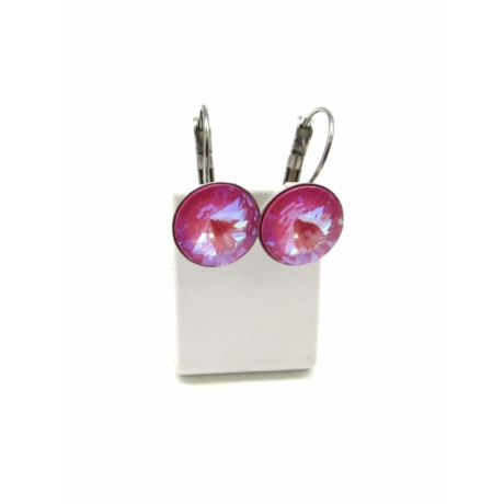 DIANA 12 fülbevaló (lotus pink delite)
